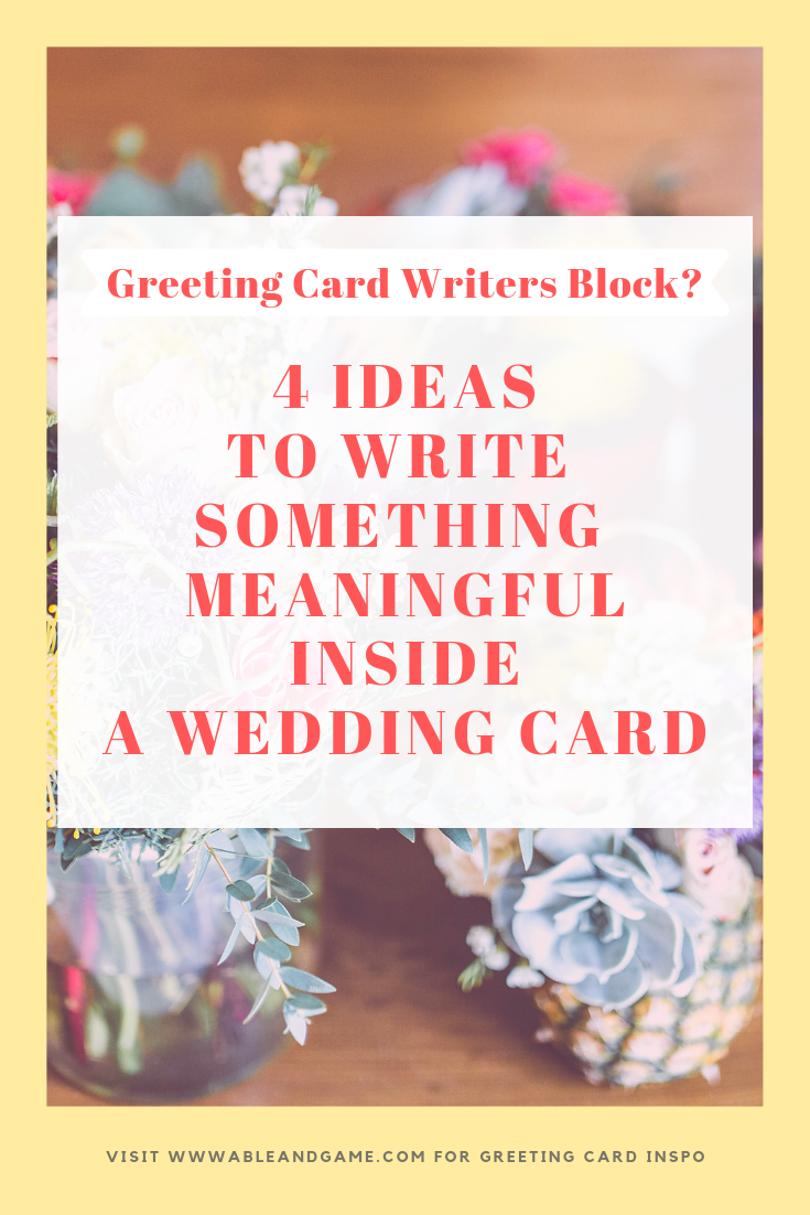 4 ideas to write something meaningful in a wedding card