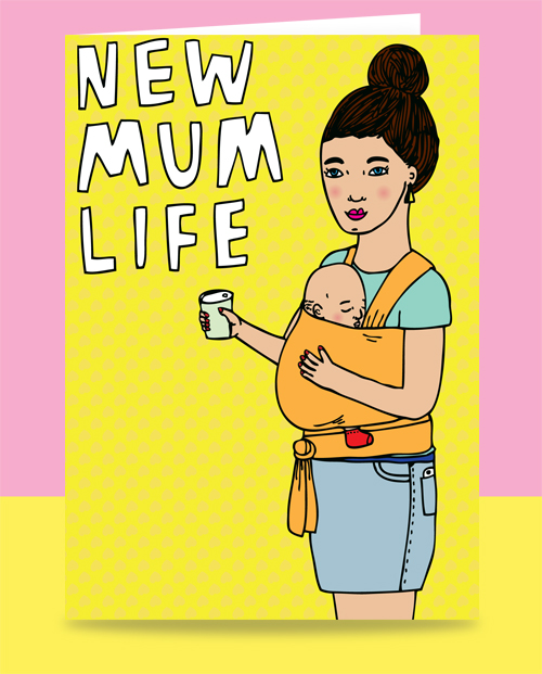 able and game greeting card for new mum funny greeting card