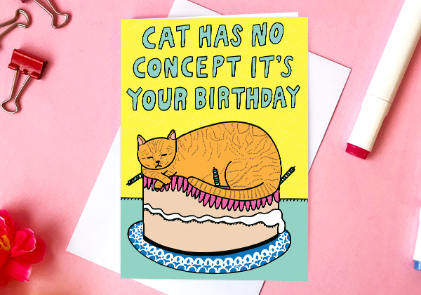 birthday card for a cat lover cat has no concept it's your birthday