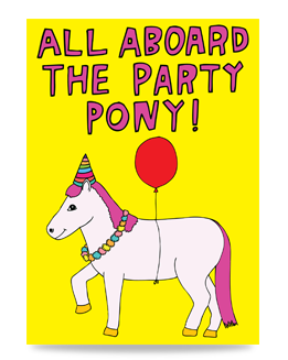 All Aboard The Party Pony
