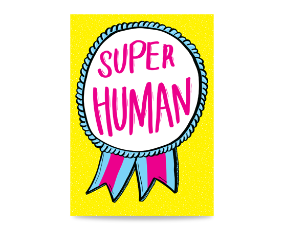 A thank you card for a super human