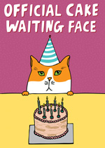 Official Cake Waiting Face