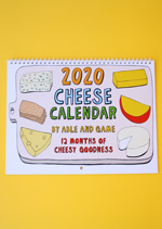 2020 Cheese Calendar