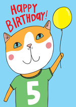 Cat Top 5th  Birthday