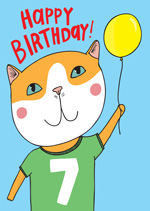 Cat Top 7th  Birthday