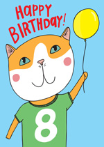 Cat Top 8th  Birthday