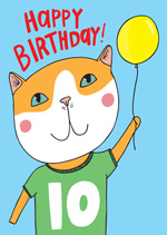 Cat Top 10th  Birthday